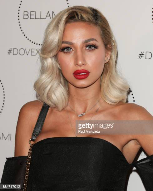 Model Roz Purcell attends the launch party for the Dove x BELLAMI collection at Unici Casa Gallery on December 2 2017 in Culver City California