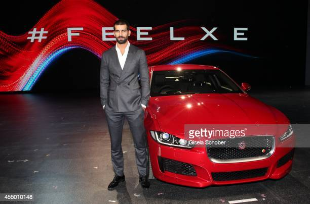 Model Ruben Cortada attends the new Jaguar XE World Premiere at Earls Court on September 8 2014 in London England