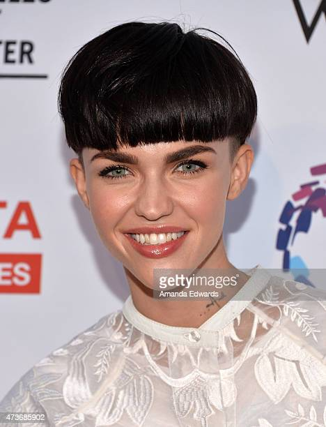 Model Ruby Rose arrives at An Evening With Women Benefiting The Los Angeles LGBT Center at the Hollywood Palladium on May 16 2015 in Los Angeles...