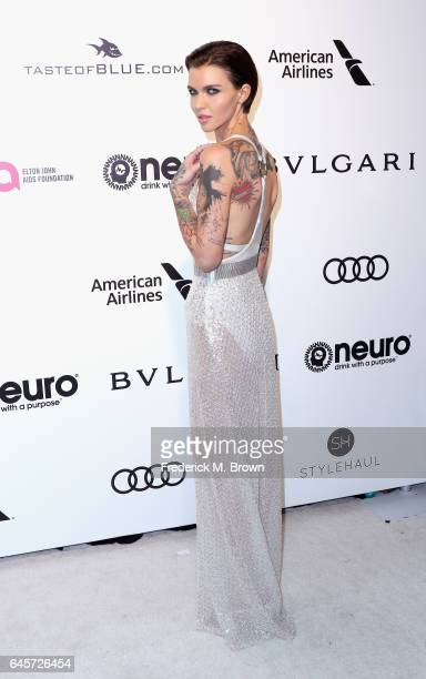 Model Ruby Rose attends the 25th Annual Elton John AIDS Foundation's Academy Awards Viewing Party at The City of West Hollywood Park on February 26...