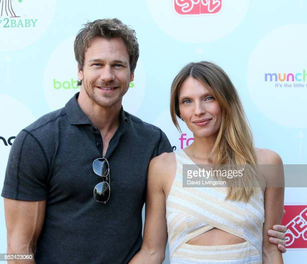Model Rusty Joiner and Charity Walden attend the 6th Annual Celebrity Red CARpet Safety Awareness Event at Sony Studios Commissary on September 23...