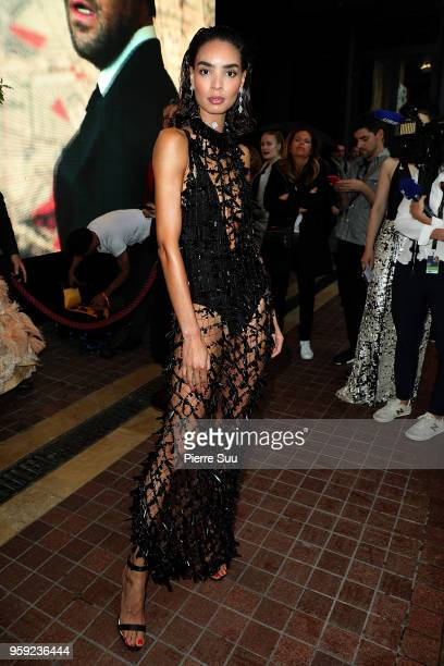 Model Sabrina Nait is seen at 'Le Majestic' hotel during the 71st annual Cannes Film Festival at on May 16 2018 in Cannes France
