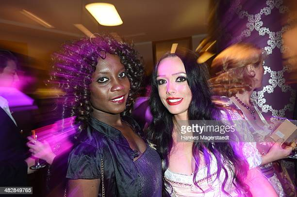 Model Sadia De Kiden and Karin Braun attend the 'Relax and Smile' Anniversary Celebration on April 4 2014 in Munich Germany