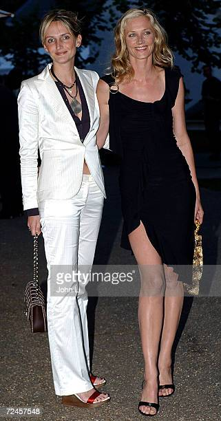 Model Saffron Aldridge and actress Joely Richardson attend the Serpentine Gallery Summer Party at the Serpentine Gallery in Kensington Gardens July 9...