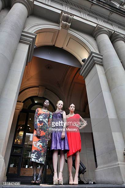 Model Sahara wears a dress by designer Manning Cartell model Hannah wears a dress by designer Akira and model Caroline wears a dress by designer Lisa...