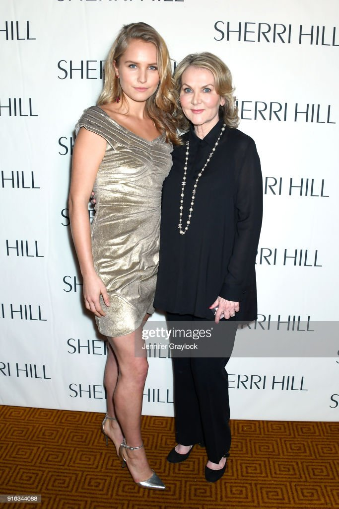 Model Sailor Brinkley-Cook (L) and designer Sherri Hill attend the NYFW Sherri Hill Runway Show on February 9, 2018 in New York City.
