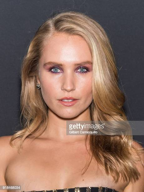 Model Sailor Lee BrinkleyCook attends the 2018 Sports Illustrated Swimsuit Issue Launch Celebration at Magic Hour at Moxy Times Square on February 14...