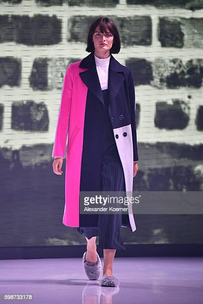 Model Sam Rollinson walks the runway at the Topshop fashion show during the Bread & Butter by Zalando at arena Berlin on September 2, 2016 in Berlin,...
