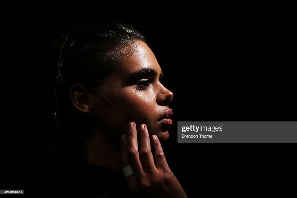Ashkar Line - Backstage - Mercedes-Benz Fashion Week Australia 2015