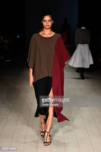Model Samantha Harris walks the runway during the Tome show at MercedesBenz Fashion Week Resort 17 Collections at Carriageworks on May 18 2016 in...