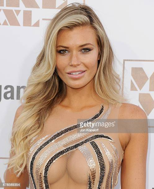 Model Samantha Hoopes arrives at the Los Angeles Premiere Magic Mike XXL at TCL Chinese Theatre IMAX on June 25 2015 in Hollywood California