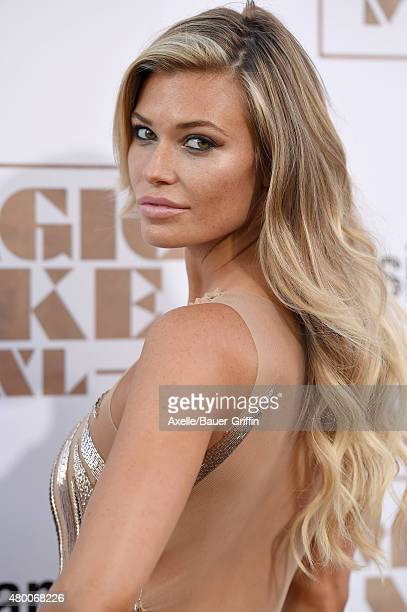 Model Samantha Hoopes arrives at the Los Angeles World Premiere of Warner Bros Pictures' 'Magic Mike XXL' at TCL Chinese Theatre IMAX on June 25 2015...