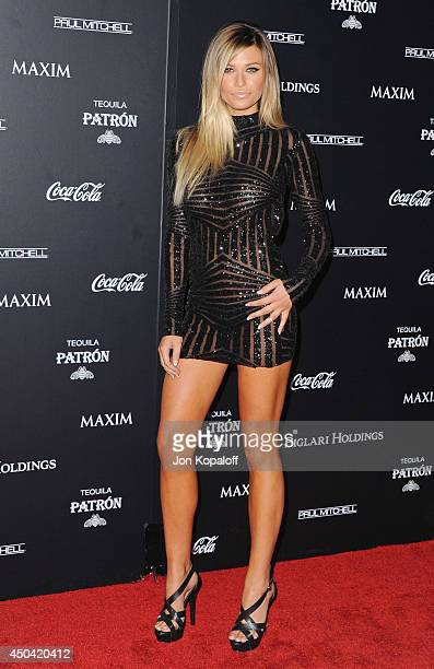 Model Samantha Hoopes arrives at the MAXIM Hot 100 Celebration Event at Pacific Design Center on June 10 2014 in West Hollywood California
