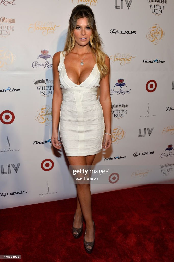 Model Samantha Hoopes attends Club SI Swimsuit at LIV Nightclub hosted by Sports Illustrated at Fontainebleau Miami on February 19, 2014 in Miami Beach, Florida.