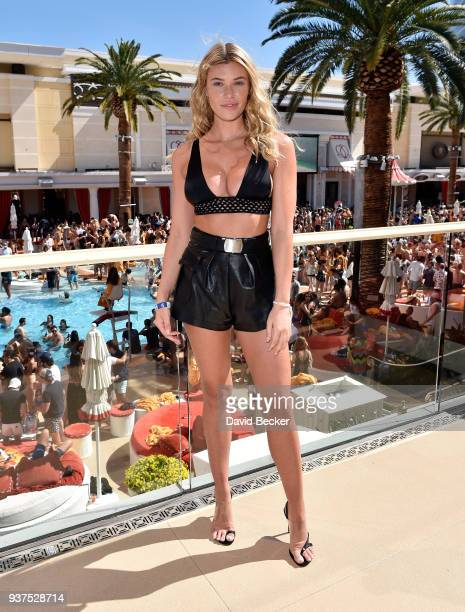 Model Samantha Hoopes attends Sports Illustrated Swimsuit new issue launch and model search winners celebration at Encore Beach Club in Wynnn Las...