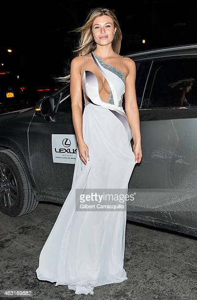 Model Samantha Hoopes attends the 2015 Sports Illustrated Swimsuit Issue celebration at Marquee on February 10 2015 in New York City
