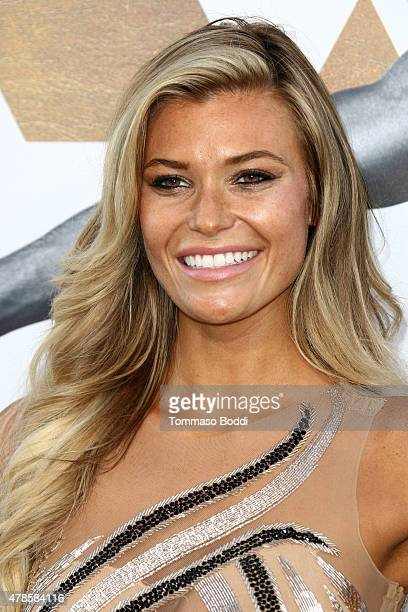 Model Samantha Hoopes attends the Los Angeles world premiere of Warner Bros Pictures' 'Magic Mike XXL' held at TCL Chinese Theatre IMAX on June 25...