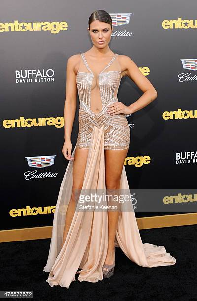 Model Samantha Hoopes attends the premiere of ENTOURAGE sponsored by Buffalo David Bitton at the Regency Village Theatre on June 1 2015 in Westwood...