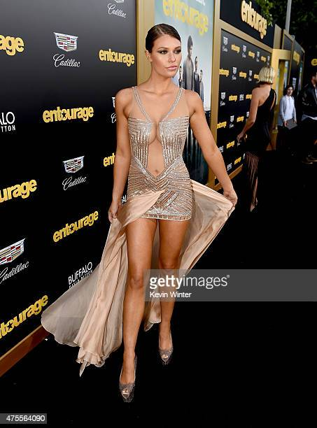 Model Samantha Hoopes attends the premiere of Warner Bros Pictures' 'Entourage' at Regency Village Theatre on June 1 2015 in Westwood California