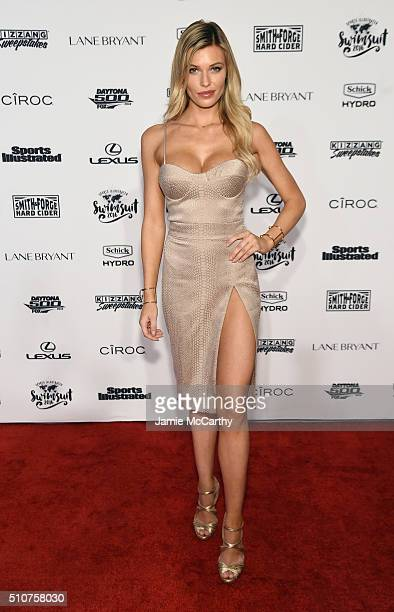 Model Samantha Hoopes attends the Sports Illustrated Swimsuit 2016 NYC VIP press event on February 16 2016 in New York City