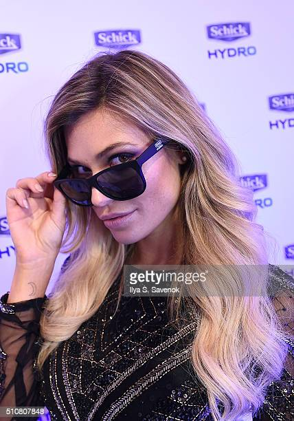Model Samantha Hoopes teams up with Schick Hydro to celebrate the launch of the 2016 Sports Illustrated Swimsuit Issue at The Altman Building on...