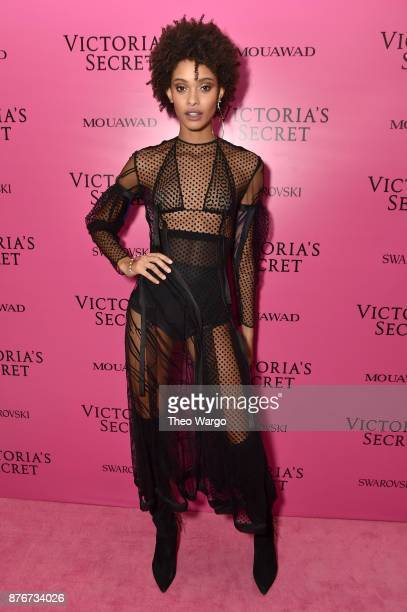 Model Samile Bermannelli attends the 2017 Victoria's Secret Fashion Show In Shanghai After Party at MercedesBenz Arena on November 20 2017 in...