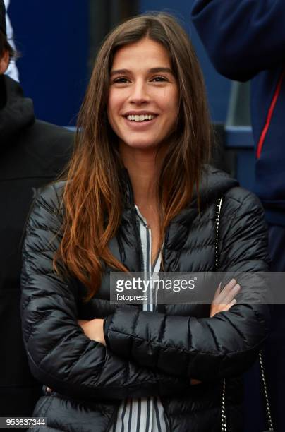 Model Sandra Gago attends day seventh of the ATP Barcelona Open Banc Sabadell at the Real Club de Tenis Barcelona on April 29 2018 in Barcelona Spain
