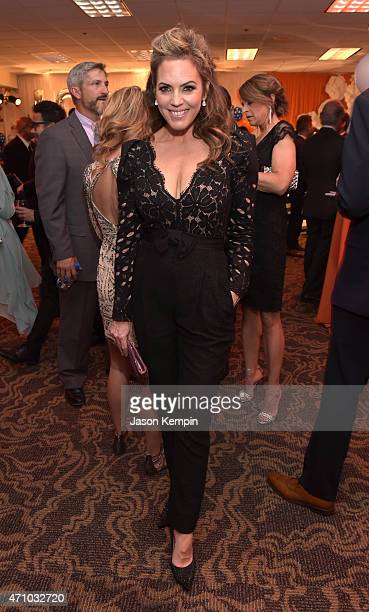 Model Sandra Taylor attends the 22nd Annual Race To Erase MS Event at the Hyatt Regency Century Plaza on April 24 2015 in Century City California