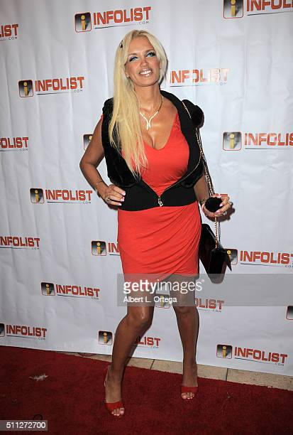 Model Sandrine Chelly arrives for the InfoList PreOscar Soiree And Birthday Party for Jeff Gund held at OHM Nightclub on February 18 2016 in...