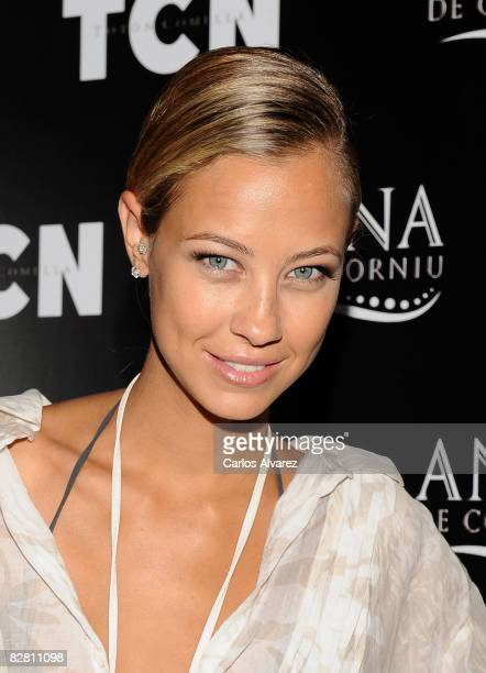 Model Sandy MeyerWoelden attends TCN Fashion Collection photocall on September 14 2008 at the Florida Park Club in Madrid Spain