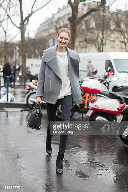 Model Sann Vloet exits Viktor Rolf at Grand Palais on Day 4 of Paris Haute Couture Fashion Week Spring/Summer 2015 on January 28 2015 in Paris France