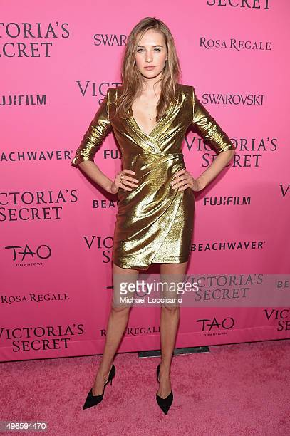 Model Sanne Vloet attends the 2015 Victoria's Secret Fashion After Party at TAO Downtown on November 10 2015 in New York City