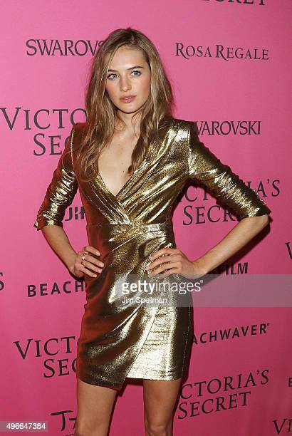 Model Sanne Vloet attends the 2015 Victoria's Secret Fashion Show after party at TAO Downtown on November 10 2015 in New York City