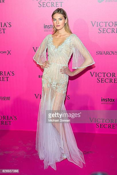 Model Sanne Vloet attends the 2016 Victoria's Secret Fashion Show after party at Le Grand Palais on November 30 2016 in Paris France