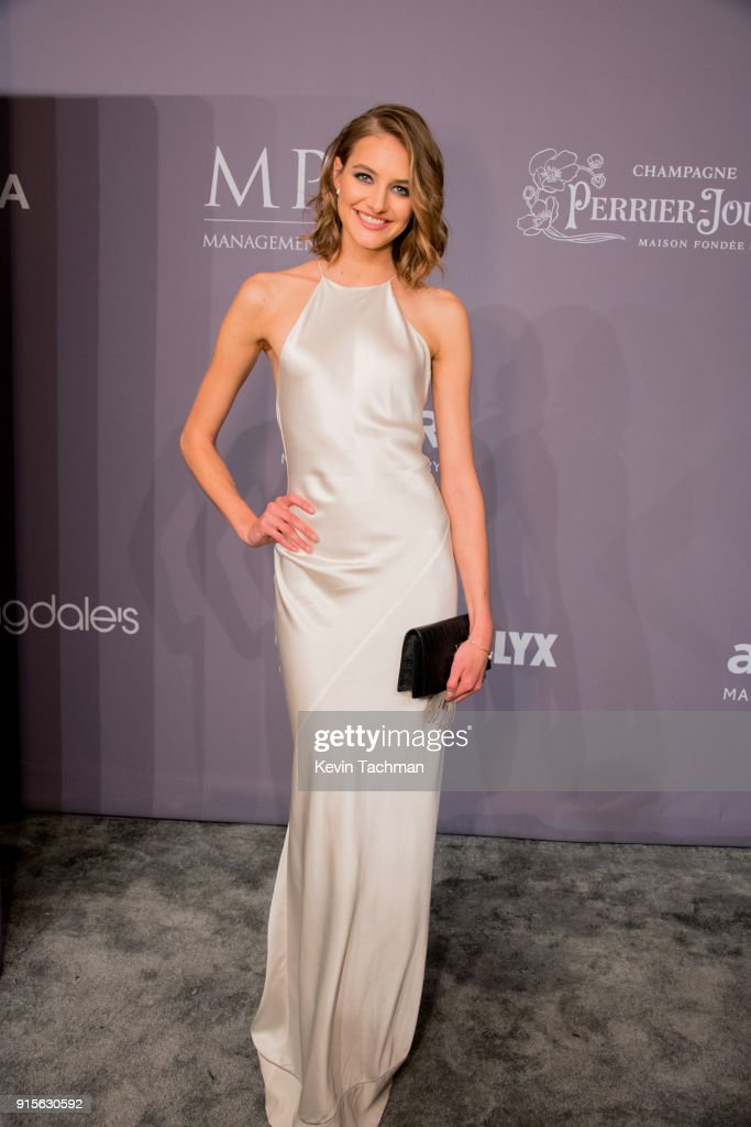Model Sanne Vloet attends the 2018 amfAR Gala New York at Cipriani Wall Street on February 7, 2018 in New York City.