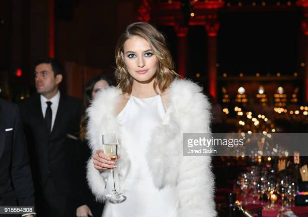 Model Sanne Vloet attends the amfAR Gala New York 2018 at Cipriani Wall Street on February 7 2018 in New York City