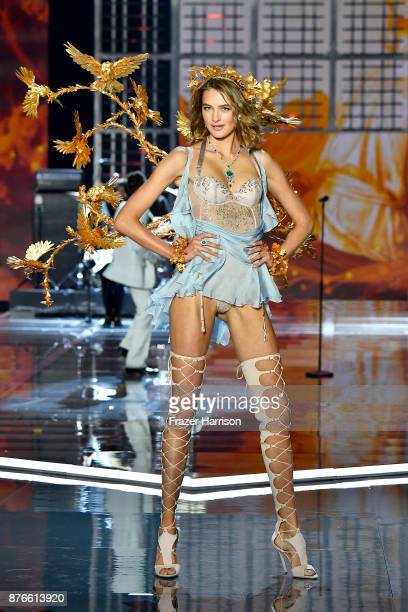 Model Sanne Vloet walks the runway during the 2017 Victoria's Secret Fashion Show In Shanghai at MercedesBenz Arena on November 20 2017 in Shanghai...