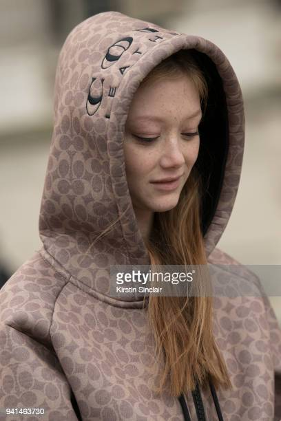 Model Sara Grace Wallerstedt day 4 of Paris Womens Fashion Week Spring/Summer 2018 on March 1 2018 in London England