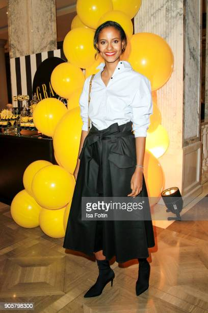 Model Sara Nuru attends the Grazia Fashion Dinner at Titanic Deluxe Hotel on January 16 2018 in Berlin Germany