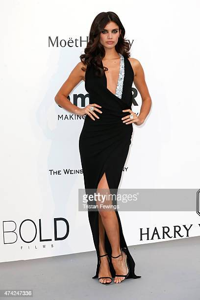 Model Sara Sampaio attends amfAR's 22nd Cinema Against AIDS Gala Presented By Bold Films And Harry Winston at Hotel du CapEdenRoc on May 21 2015 in...