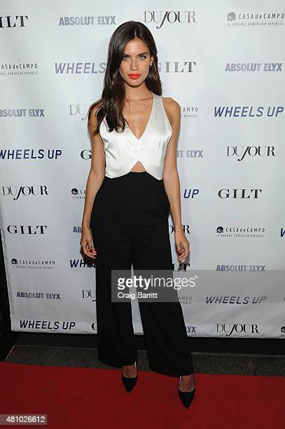 Model Sara Sampaio attends DuJour Magazine's Jason Binn and Casa de Campo's celebration of Rob Gronkowski with Bruce Weber presented by Absolut Elyx...