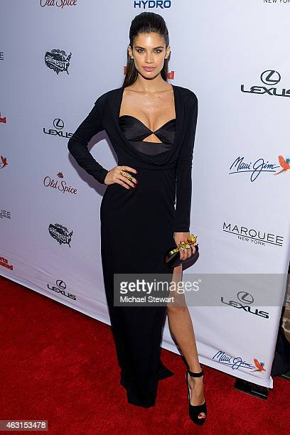 Model Sara Sampaio attends the 2015 Sports Illustrated Swimsuit Issue celebration at Marquee on February 10 2015 in New York City