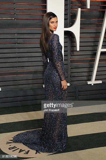 Model Sara Sampaio attends the 2016 Vanity Fair Oscar Party hosted By Graydon Carter at Wallis Annenberg Center for the Performing Arts on February...