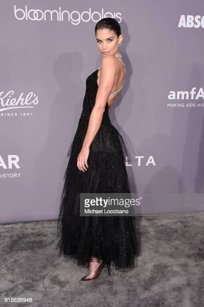 Model Sara Sampaio attends the 2018 amfAR Gala New York at Cipriani Wall Street on February 7 2018 in New York City