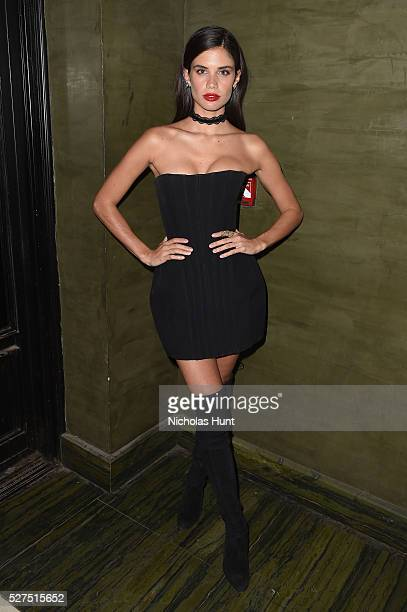 Model Sara Sampaio attends the Balmain and Olivier Rousteing after the Met Gala Celebration on May 02 2016 in New York New York