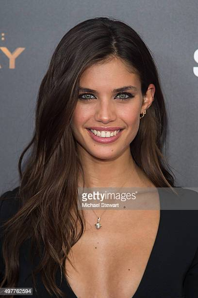 """Model Sara Sampaio attends """"The Hunger Games: Mockingjay- Part 2"""" New York premiere at AMC Loews Lincoln Square 13 theater on November 18, 2015 in..."""