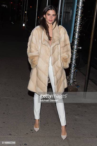 Model Sara Sampaio attends Vogue Covergirl Fox celebrate 'Empire' at Omar's La Ranita on March 21 2016 in New York City