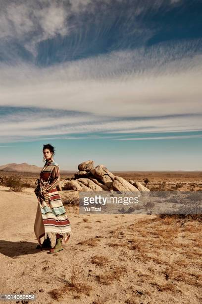Model Sara Sampaio is photographed for Harpers Bazaar Singapore on December 14, 2017 in Lancaster, California. PUBLISHED IMAGE.