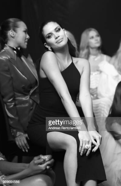 Model Sara Sampaio is seen backstage at the amfAR Gala Cannes 2018 at Hotel du CapEdenRoc on May 17 2018 in Cap d'Antibes France