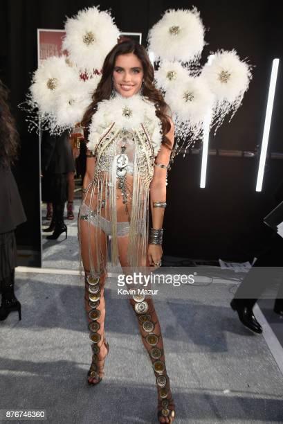 Model Sara Sampaio poses backstage during 2017 Victoria's Secret Fashion Show In Shanghai at MercedesBenz Arena on November 20 2017 in Shanghai China
